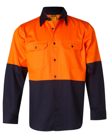 AIW Hi-Vis cotton drill shirt L/S