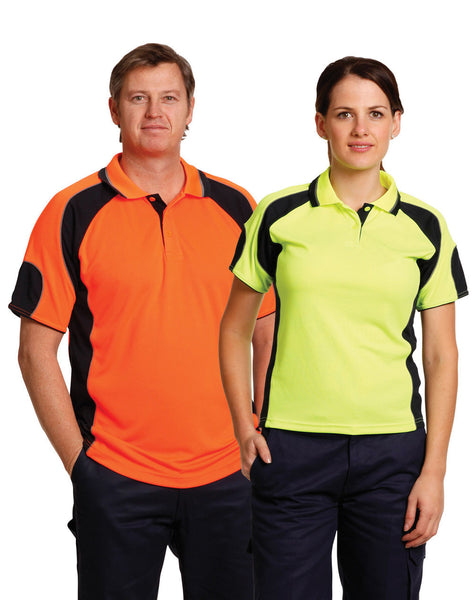 AIW Men's Hi-Vis Cooldry Contrast Polo with Sleeve Panels