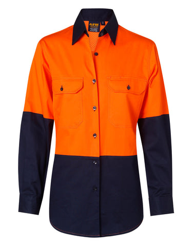 AIW Ladies' Hi-Vis L/S Safety Shirt