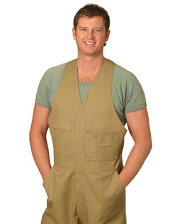 AIW Men's Cotton Drill Action Back Overall-Stout