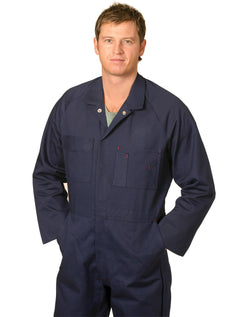 AIW Men's Cotton Drill Action Back Coverall-Stout