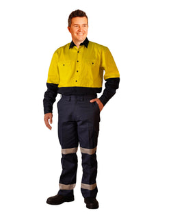 AIW Long fit drill pants with 3M tapes / pocket on leg