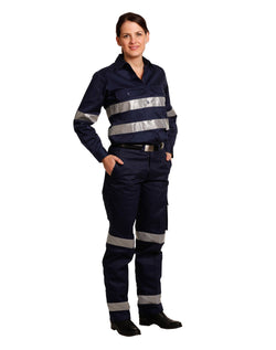 AIW Ladies' Heavy Cotton Pre-Shrunk Drill Pant with 3M Tape