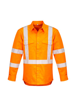 Syzmik Mens Hi Vis X Back Taped Shirt