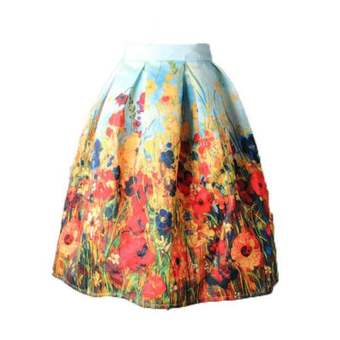 Floral Print Skirt Vintage - SINCOS CLOTHING WOMAN ONLINE CHEAP AFTERPAY DRESSES PLUS SIZE ZIPPAY