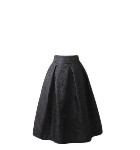 Jacquard Pleated Midi Office - SINCOS CLOTHING WOMAN ONLINE CHEAP AFTERPAY DRESSES PLUS SIZE ZIPPAY