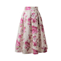 Retro Floral Pleated Skirts - SINCOS CLOTHING WOMAN ONLINE CHEAP AFTERPAY DRESSES PLUS SIZE ZIPPAY WISH ALIEXPRESS GOOGLE