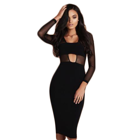 Winter women dress Black Mesh - SINCOS CLOTHING WOMAN ONLINE CHEAP AFTERPAY DRESSES PLUS SIZE ZIPPAY