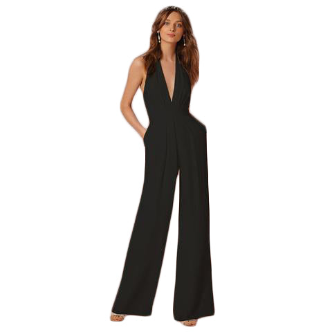 Backless Elegant Sexy Jumpsuit - SINCOS CLOTHING WOMAN ONLINE CHEAP AFTERPAY DRESSES PLUS SIZE ZIPPAY