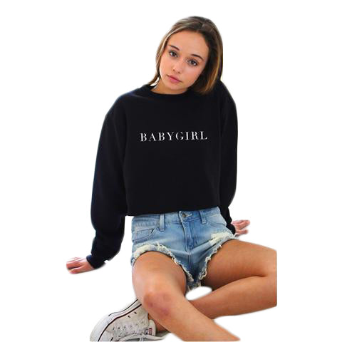 Black O-neck Sweatshirt