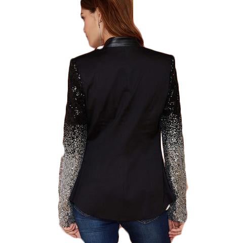 03a46be087e Black silver sequins Jackets - SINCOS CLOTHING WOMAN ONLINE CHEAP AFTERPAY  DRESSES PLUS SIZE GOOGLE FASHION