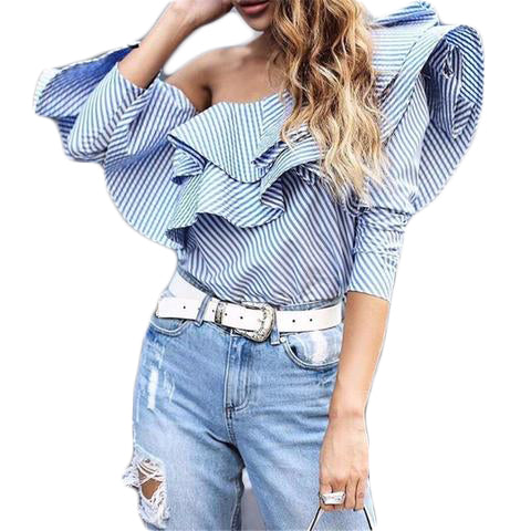 Blue Nice Off Shoulder Top Dress - SINCOS CLOTHING WOMAN ONLINE CHEAP AFTERPAY DRESSES PLUS SIZE ZIPPAY
