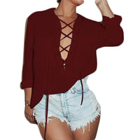 Collar Chiffon Shirt Sexy Tops & Tees SINCOS Women Clothing Store Flash Sales