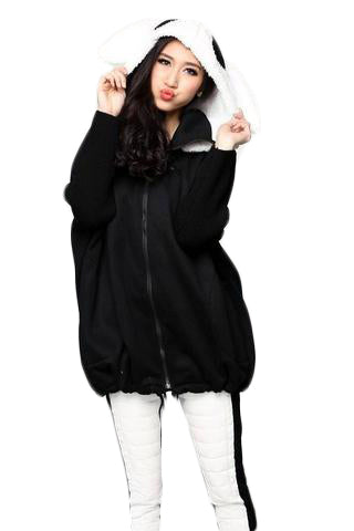 Cute bunny ears thickening fleece Hoodie - SINCOS CLOTHING WOMAN ONLINE CHEAP AFTERPAY DRESSES PLUS SIZE GOOGLE FASHION NEW STYLE HOT SEXY PARTY JUMPSUITS TOP TEES SUITS BLAZER JACKETS COATS HOODIES SWEATSHIRTS FLORAL BUSINESS