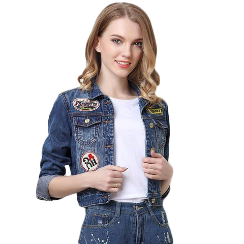 Embroidered Women Denim Jacket - SINCOS CLOTHING WOMAN ONLINE CHEAP AFTERPAY DRESSES PLUS SIZE GOOGLE FASHION NEW STYLE HOT SEXY PARTY JUMPSUITS TOP TEES SUITS BLAZER JACKETS COATS HOODIES SWEATSHIRTS FLORAL BUSINESS