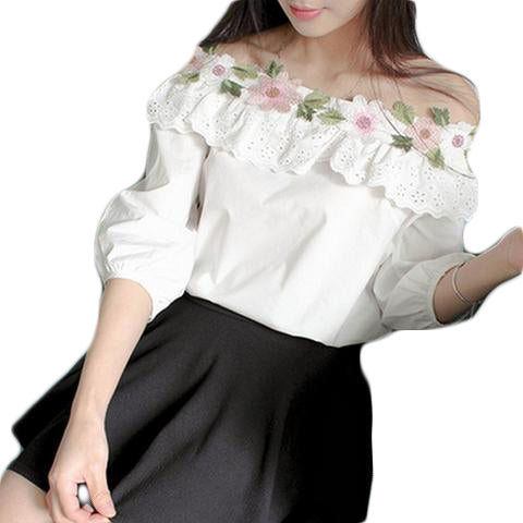 Fashionable Floral White Top Dress - SINCOS CLOTHING WOMAN ONLINE CHEAP AFTERPAY DRESSES PLUS SIZE GOOGLE FASHION NEW STYLE HOT SEXY PARTY JUMPSUITS TOP TEES SUITS BLAZER JACKETS COATS HOODIES SWEATSHIRTS FLORAL BUSINESS