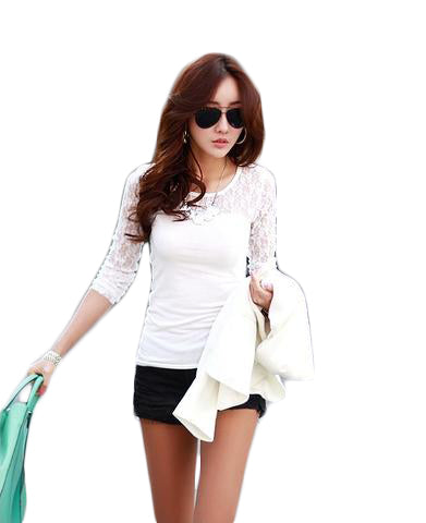 Floral Lace TShirt - SINCOS CLOTHING WOMAN ONLINE CHEAP AFTERPAY DRESSES PLUS SIZE ZIPPAY