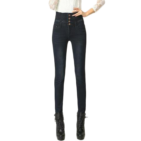 High Waist Elastic Skinny Denim - SINCOS CLOTHING WOMAN ONLINE CHEAP AFTERPAY DRESSES PLUS SIZE ZIPPAY