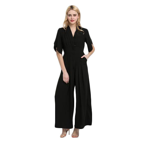 High Waist Slim Pocket Jumpsuit - SINCOS CLOTHING WOMAN ONLINE CHEAP AFTERPAY DRESSES PLUS SIZE ZIPPAY