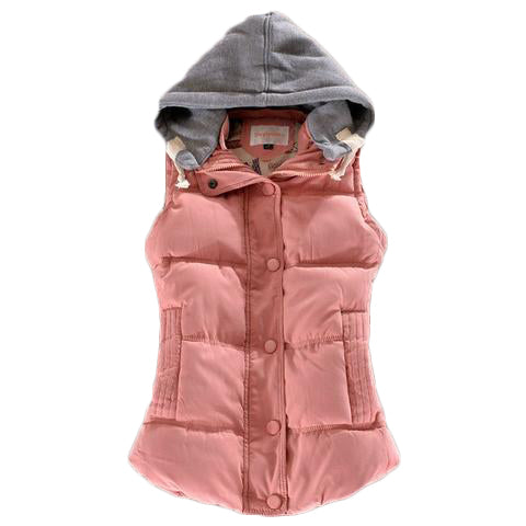 Hooded Sleeveless Winter Jacket - SINCOS CLOTHING WOMAN ONLINE CHEAP AFTERPAY DRESSES PLUS SIZE ZIPPAY