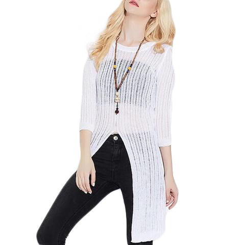 Knitwear Long Front Split - SINCOS CLOTHING WOMAN ONLINE CHEAP AFTERPAY DRESSES PLUS SIZE ZIPPAY