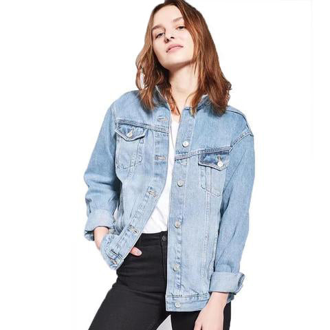 Ladies Button Jeans Coat - SINCOS CLOTHING WOMAN ONLINE CHEAP AFTERPAY DRESSES PLUS SIZE ZIPPAY