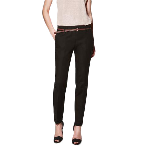 Pencil Casual Pants with Belt