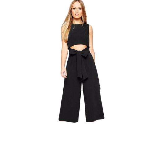 Sexy Hollow Wide Leg Jumpsuit - SINCOS CLOTHING WOMAN ONLINE CHEAP AFTERPAY DRESSES PLUS SIZE ZIPPAY WISH ALIEXPRESS GOOGLE