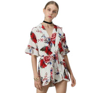 Summer Floral Print Jumpsuit - SINCOS CLOTHING WOMAN ONLINE CHEAP AFTERPAY DRESSES PLUS SIZE ZIPPAY WISH ALIEXPRESS GOOGLE