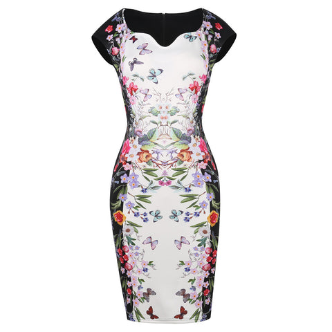 Floral Sexy V-Neck - SINCOS CLOTHING WOMAN ONLINE CHEAP AFTERPAY DRESSES PLUS SIZE ZIPPAY