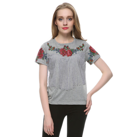 Floral print T shirt - SINCOS CLOTHING WOMAN ONLINE CHEAP AFTERPAY DRESSES PLUS SIZE ZIPPAY