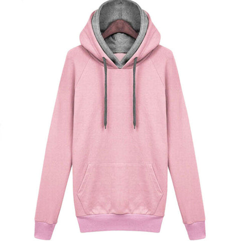 Double Hoodies Long Sleeve Pullover - SINCOS CLOTHING WOMAN ONLINE CHEAP AFTERPAY DRESSES PLUS SIZE ZIPPAY