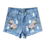 Flower Embroidery Female Short - SINCOS CLOTHING WOMAN ONLINE CHEAP AFTERPAY DRESSES PLUS SIZE ZIPPAY