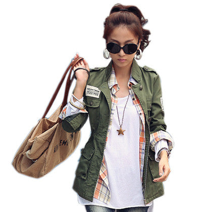 Cotton Casual Jacket - SINCOS CLOTHING WOMAN ONLINE CHEAP AFTERPAY DRESSES PLUS SIZE GOOGLE FASHION NEW STYLE HOT SEXY PARTY JUMPSUITS TOP TEES SUITS BLAZER JACKETS COATS HOODIES SWEATSHIRTS FLORAL BUSINESS