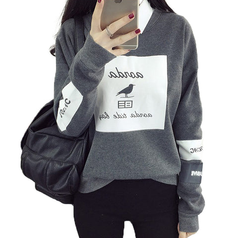 Bird Letter Printed Hoodies - SINCOS CLOTHING WOMAN ONLINE CHEAP AFTERPAY DRESSES PLUS SIZE ZIPPAY