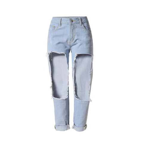 Cotton Stretch Bleached Jeans - SINCOS CLOTHING WOMAN ONLINE CHEAP AFTERPAY DRESSES PLUS SIZE ZIPPAY