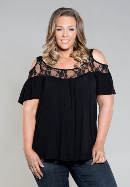 4XL Big Size 2017 New Women Tops Summer Sexy Lace Stitching Off Shoulder Blouse Casual Party Solid Plus Size Short Sleeve Shirt - SINCOS CLOTHING WOMAN ONLINE CHEAP AFTERPAY DRESSES PLUS SIZE ZIPPAY