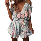 Bohemian Flower Floral Jumpsuit - SINCOS CLOTHING WOMAN ONLINE CHEAP AFTERPAY DRESSES PLUS SIZE GOOGLE FASHION NEW STYLE HOT SEXY PARTY JUMPSUITS TOP TEES SUITS BLAZER JACKETS COATS HOODIES SWEATSHIRTS FLORAL BUSINESS