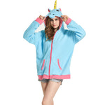 Cartoon Unicorn Sweatshirt Hoodies & Sweatshirts SINCOS Women Clothing Store Flash Sales