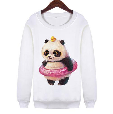 Cartoon Print Sweatshirts - SINCOS CLOTHING WOMAN ONLINE CHEAP AFTERPAY DRESSES PLUS SIZE GOOGLE FASHION NEW STYLE HOT SEXY PARTY JUMPSUITS TOP TEES SUITS BLAZER JACKETS COATS HOODIES SWEATSHIRTS FLORAL BUSINESS