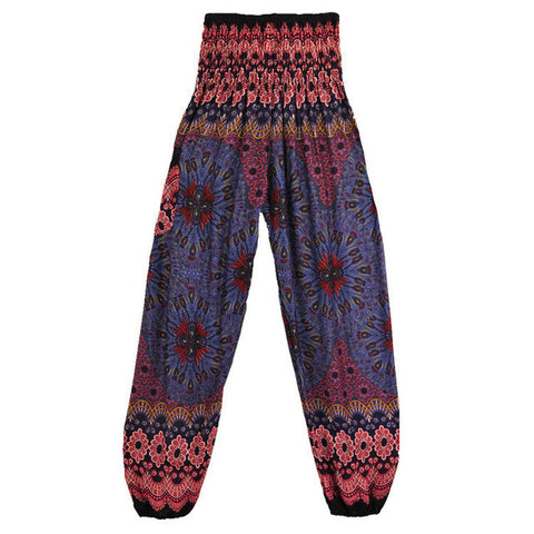 High Waist Printed Beach Trousers - SINCOS CLOTHING WOMAN ONLINE CHEAP AFTERPAY DRESSES PLUS SIZE ZIPPAY