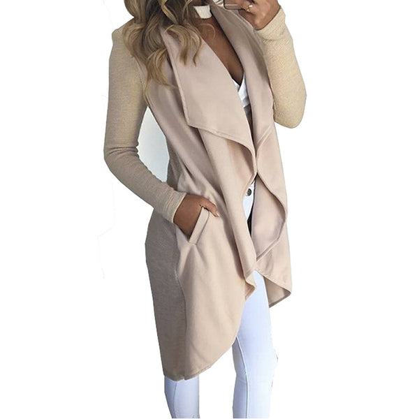 Asymmetric Female Trench Coat Jackets & Coats SINCOS Women Clothing Store Flash Sales