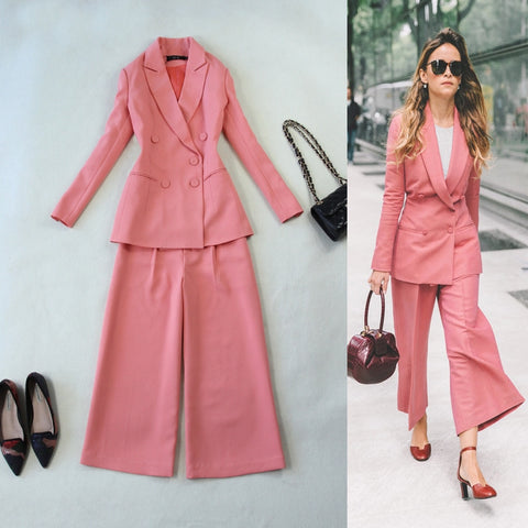 Pink Suit & Straigh Leg Pants - SINCOS CLOTHING WOMAN ONLINE CHEAP AFTERPAY DRESSES PLUS SIZE GOOGLE FASHION NEW STYLE HOT SEXY PARTY JUMPSUITS TOP TEES SUITS BLAZER JACKETS COATS HOODIES SWEATSHIRTS FLORAL BUSINESS