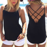 Criss Cross Back Blouse - SINCOS CLOTHING WOMAN ONLINE CHEAP AFTERPAY DRESSES PLUS SIZE GOOGLE FASHION NEW STYLE HOT SEXY PARTY JUMPSUITS TOP TEES SUITS BLAZER JACKETS COATS HOODIES SWEATSHIRTS FLORAL BUSINESS