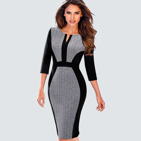 Zipper Front Bodycon Dress - SINCOS CLOTHING WOMAN ONLINE CHEAP AFTERPAY DRESSES PLUS SIZE GOOGLE FASHION NEW STYLE HOT SEXY PARTY JUMPSUITS TOP TEES SUITS BLAZER JACKETS COATS HOODIES SWEATSHIRTS FLORAL BUSINESS