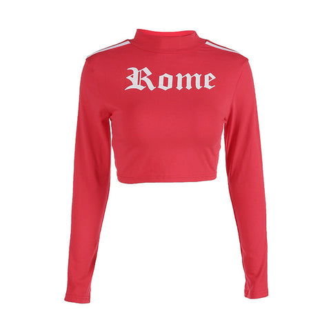 Crop Tops Printed Sweatshirt - SINCOS CLOTHING WOMAN ONLINE CHEAP AFTERPAY DRESSES PLUS SIZE GOOGLE FASHION NEW STYLE HOT SEXY PARTY JUMPSUITS TOP TEES SUITS BLAZER JACKETS COATS HOODIES SWEATSHIRTS FLORAL BUSINESS