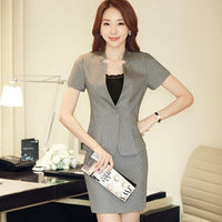 Fashion women's slim Skirt suit summer OL formal short-sleeve blazer with skirt female plus size Business  Women's costumes - SINCOS CLOTHING WOMAN ONLINE CHEAP AFTERPAY DRESSES PLUS SIZE GOOGLE FASHION NEW STYLE HOT SEXY PARTY JUMPSUITS TOP TEES SUITS BLAZER JACKETS COATS HOODIES SWEATSHIRTS FLORAL BUSINESS