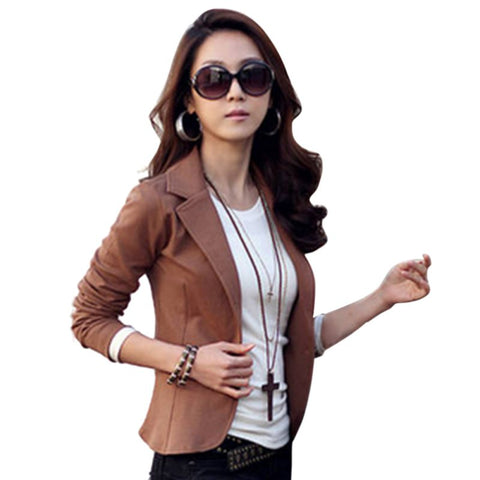One Button Suit Cotton Jacket - SINCOS CLOTHING WOMAN ONLINE CHEAP AFTERPAY DRESSES PLUS SIZE GOOGLE FASHION NEW STYLE HOT SEXY PARTY JUMPSUITS TOP TEES SUITS BLAZER JACKETS COATS HOODIES SWEATSHIRTS FLORAL BUSINESS