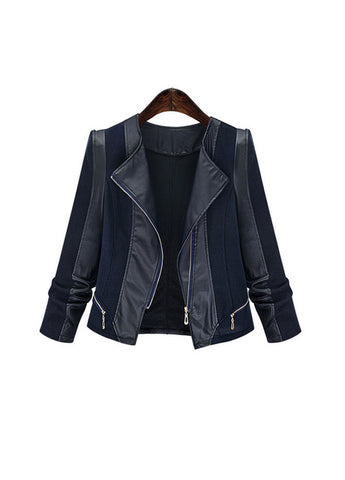 Leather Jacket Stylish Coat - SINCOS CLOTHING WOMAN ONLINE CHEAP AFTERPAY DRESSES PLUS SIZE ZIPPAY