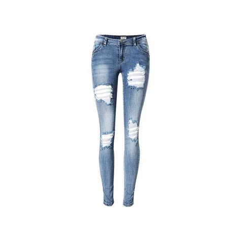 Denim Elastic Jeans Trousers - SINCOS CLOTHING WOMAN ONLINE CHEAP AFTERPAY DRESSES PLUS SIZE GOOGLE FASHION NEW STYLE HOT SEXY PARTY JUMPSUITS TOP TEES SUITS BLAZER JACKETS COATS HOODIES SWEATSHIRTS FLORAL BUSINESS
